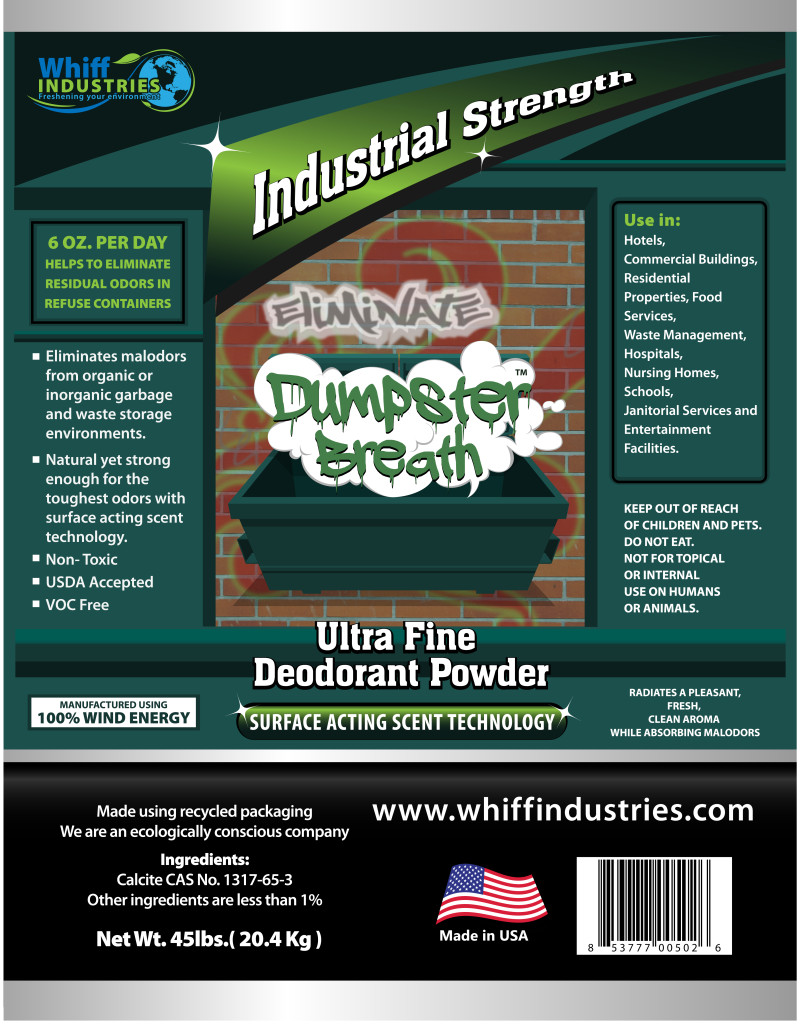 Dumpster Breath™ eliminates dumpster malodor