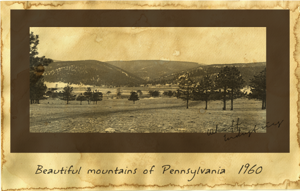 Beautiful mountains of Pennsylvania 1960