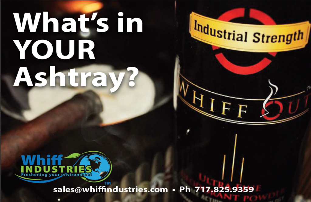 Whiff Out by Whiff Industries revolutionary ashtray odor control