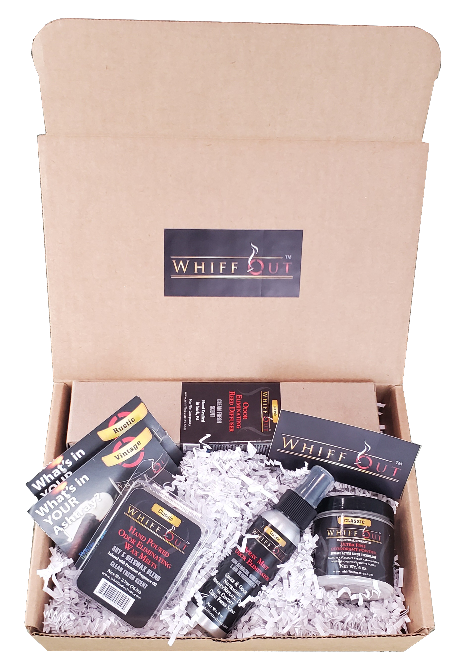 WHIFF OUT TOTAL ODOR NEUTRALIZATION SYSTEM GIFT BUNDLE CLASSIC SCENT