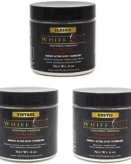 Whiff Out 6oz Deodorant Powder 3 Pack - Classic, Vintage & Rustic Scents